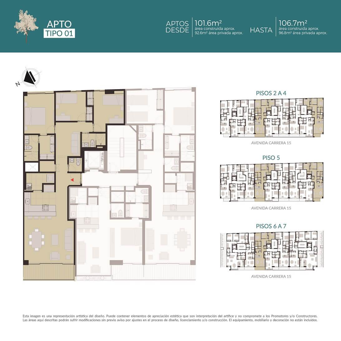 Apartamentos tipo 1
